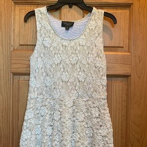 Lace dress with gold underlay